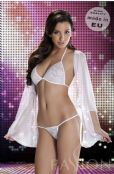 Passion Lingerie' Sheer White Dorothy Lingerie Set, Chemise,Bra,Thong. UK 14-16